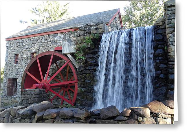 18th Century Greeting Cards - The Grist Mill  Greeting Card by Gina Sullivan