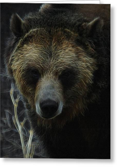 Brown Bear Digital Greeting Cards - The Grizzly Digital Art Greeting Card by Ernie Echols