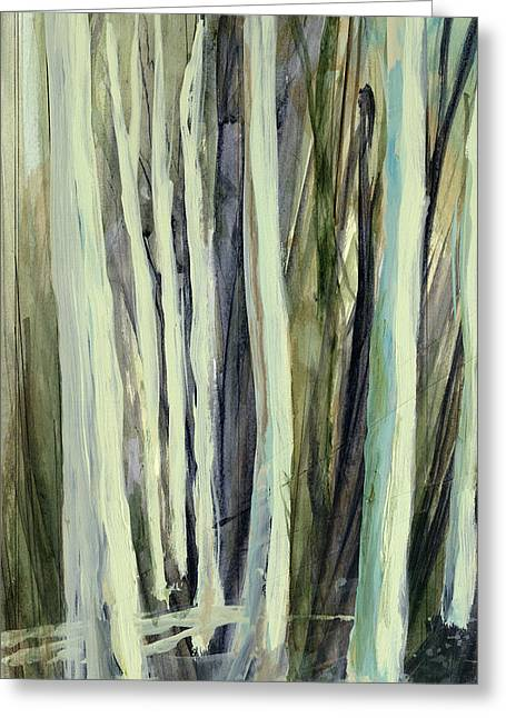 Nature Abstracts Greeting Cards - The Grove Greeting Card by Andrew King
