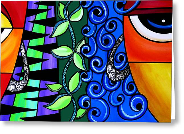 Abstract Style Greeting Cards - The Growing Way Greeting Card by Pam Reinke