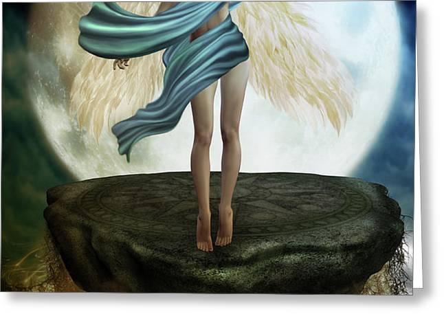 The Guardian Angel Greeting Card by Emma Alvarez