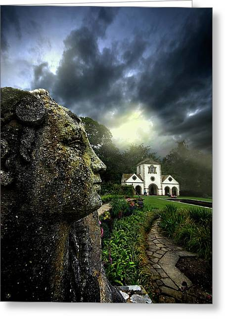 Sentinels Greeting Cards - The Guardian Greeting Card by Meirion Matthias