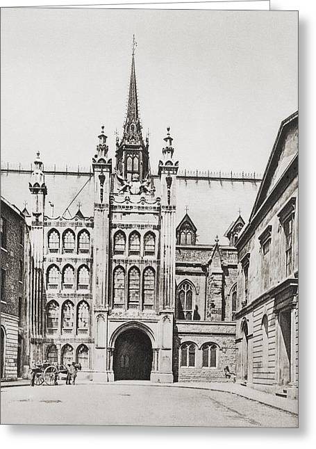 Guild Greeting Cards - The Guildhall, London, England In The Greeting Card by Ken Welsh