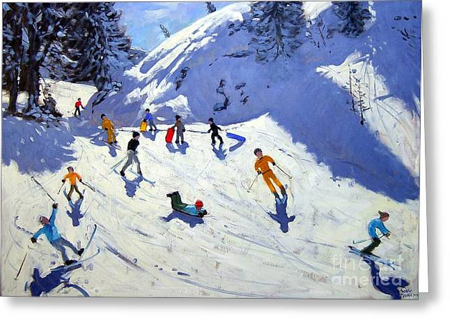 The Gully Greeting Card by Andrew Macara