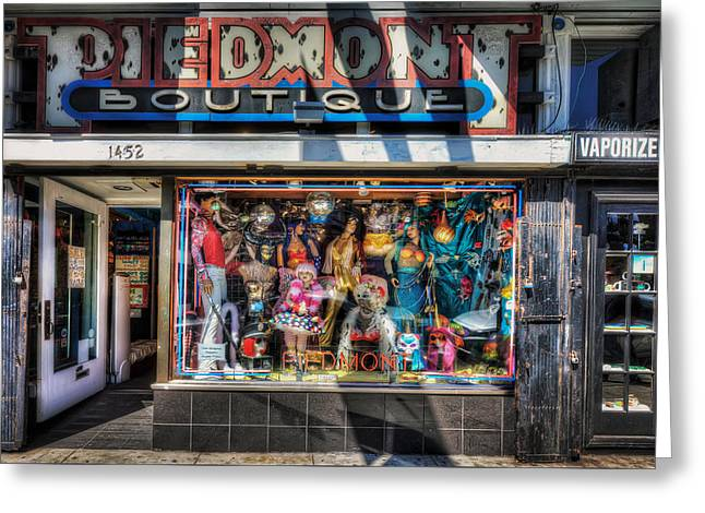 Store Fronts Greeting Cards - The Haight - Piedmont Boutique Store Front - San Francisco Greeting Card by Jennifer Rondinelli Reilly