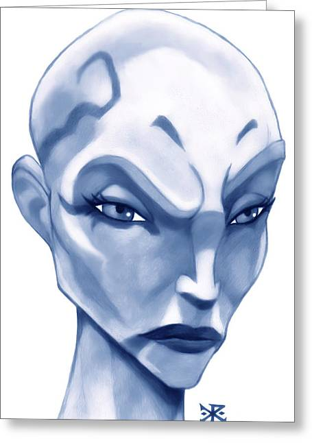 Apprentice Greeting Cards - The Hairless Harpy aka Asajj Ventress Greeting Card by Christopher Robin