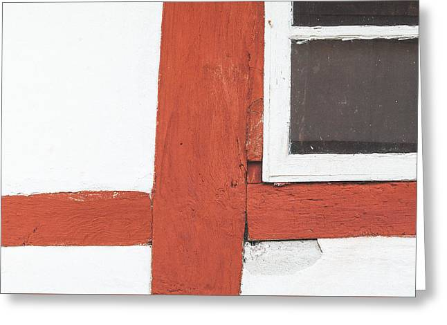 Barn Door Greeting Cards - The half-timber house Greeting Card by Marcus Karlsson Sall