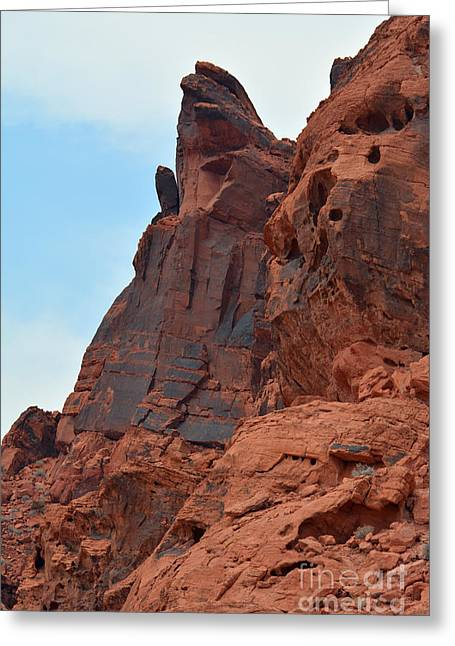 Boulders Tapestries - Textiles Greeting Cards - The Hand Greeting Card by Edna Weber