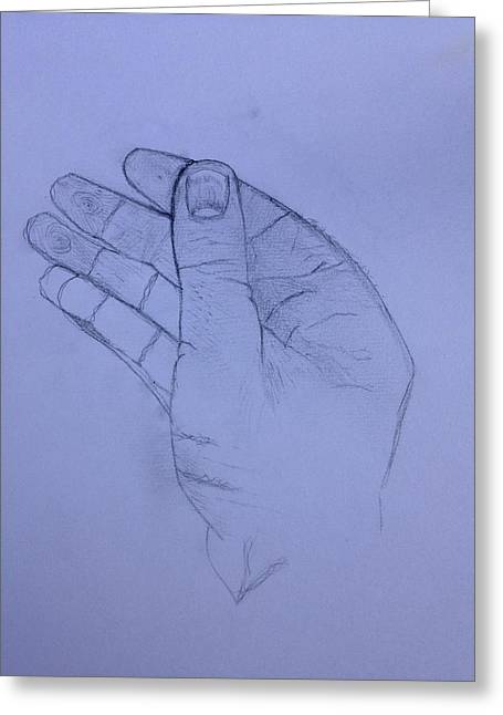 The Hand From The Light Behind The Universe Greeting Card by Contemporary Michael Angelo