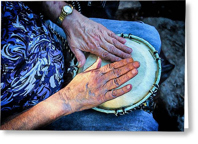 Creative People Greeting Cards - The Hands of a Drummer Greeting Card by John Haldane