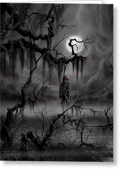Moonscape Greeting Cards - The Hangman Greeting Card by James Christopher Hill