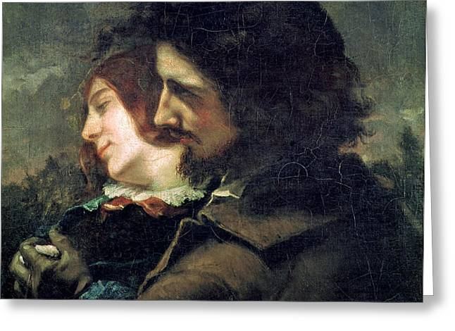 The Happy Lovers Greeting Card by Gustave Courbet