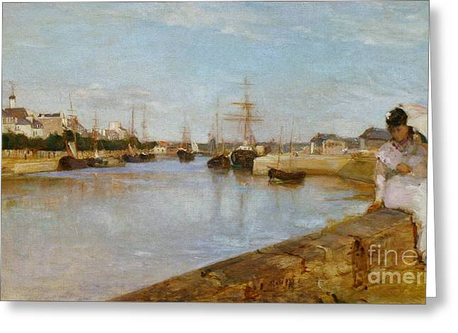 Lorient Greeting Cards - The Harbor at Lorient Greeting Card by Celestial Images