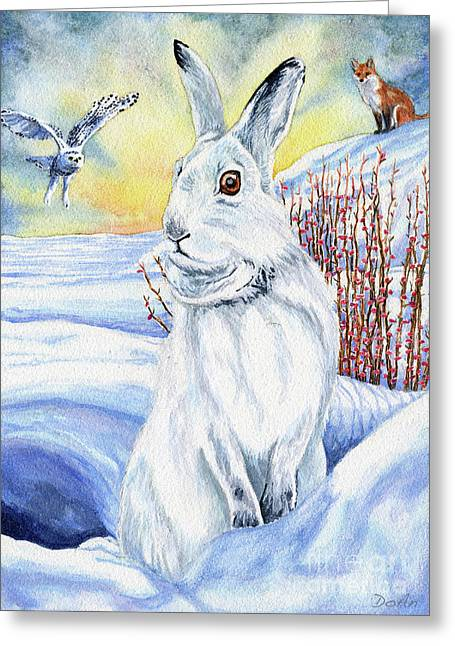 The Hare Fear Creativity And Rebirth Greeting Card by Antony Galbraith