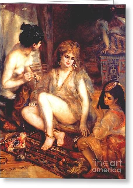 The Harem Greeting Card by Renoir