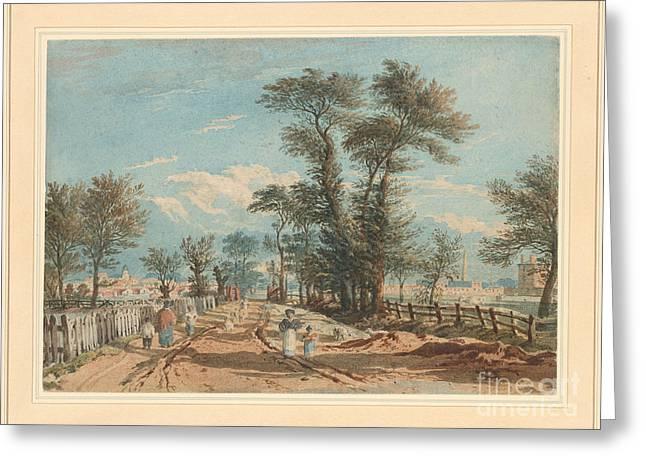The Harrow Road Paddington Greeting Card by John Varley