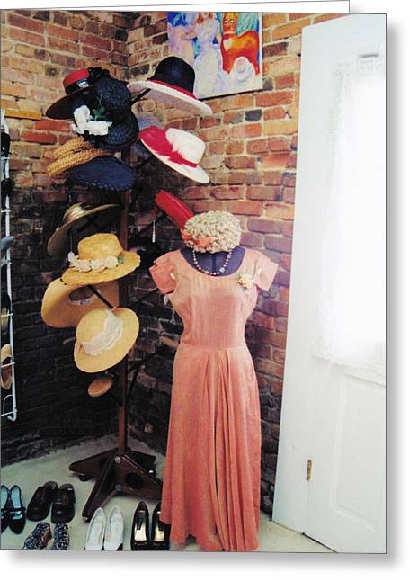 The Hat Rack Greeting Card by Jan Amiss Photography