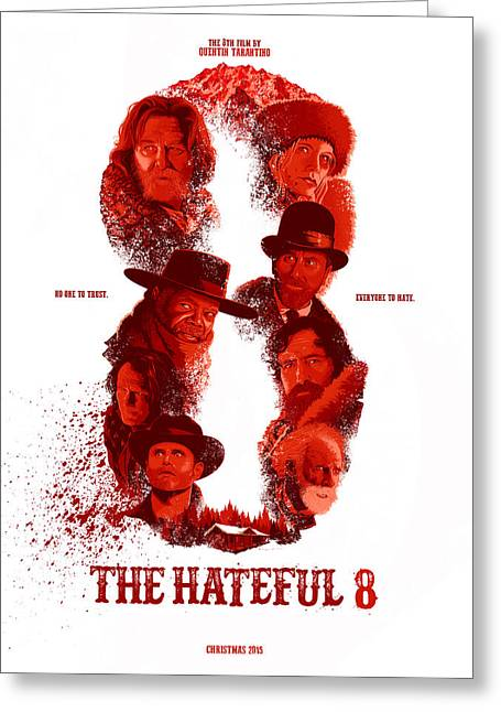 The Hateful 8 Alternative Poster Greeting Card by Christopher Ables