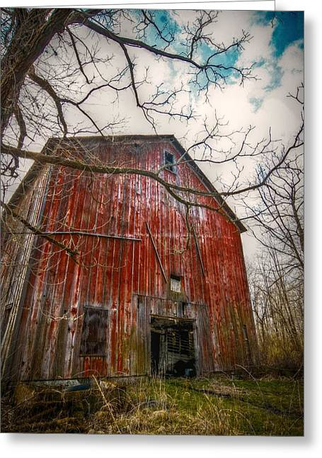 Run Down Digital Art Greeting Cards - The Haunted Barn Greeting Card by Linda Unger