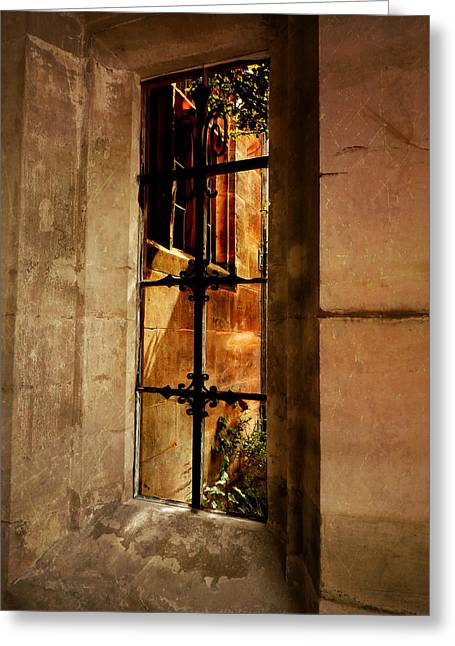 The Haunted Window Greeting Card by Connie Handscomb