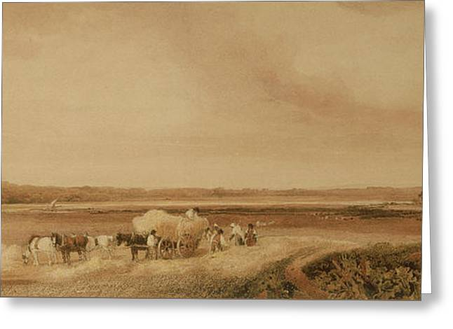 The Hayfield Greeting Card by Peter de Wint