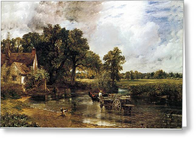 The Haywain Greeting Card by John Constable