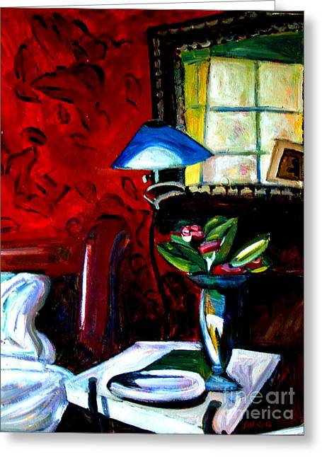 Art And Healing Greeting Cards - The Healing Room Greeting Card by Charlie Spear