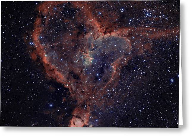 Heart Nebula Greeting Cards - The Heart Greeting Card by Charles Warren
