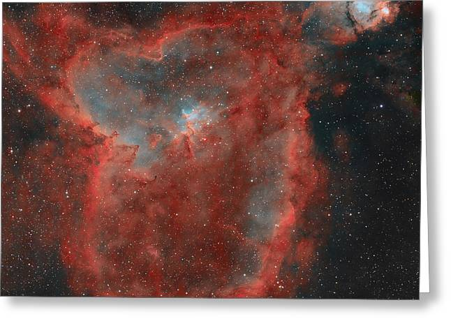 Interstellar Medium Greeting Cards - The Heart Nebula Greeting Card by Rolf Geissinger