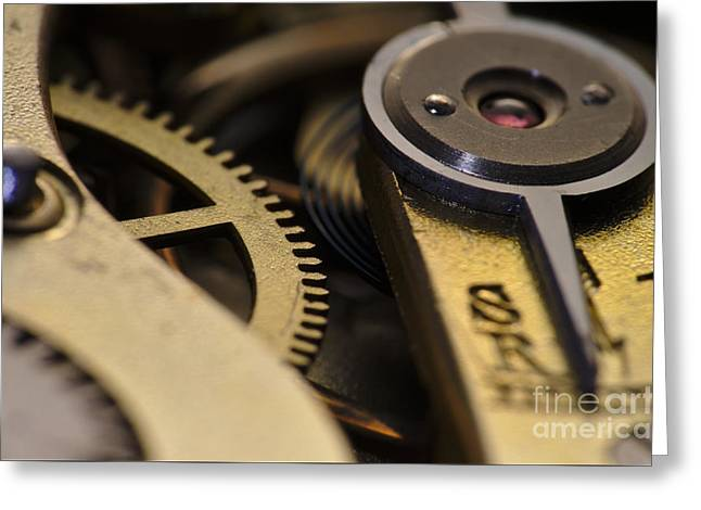 Mechanism Greeting Cards - The Heart of a Watch 2 Greeting Card by Angelo DeVal