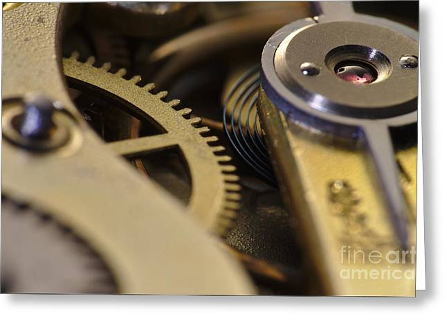 Mechanism Greeting Cards - The Heart of a Watch 4 Greeting Card by Angelo DeVal