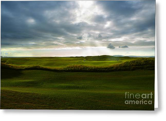 Beautiful Golf Course Greeting Cards - The Heavenly Game Greeting Card by Diane Diederich