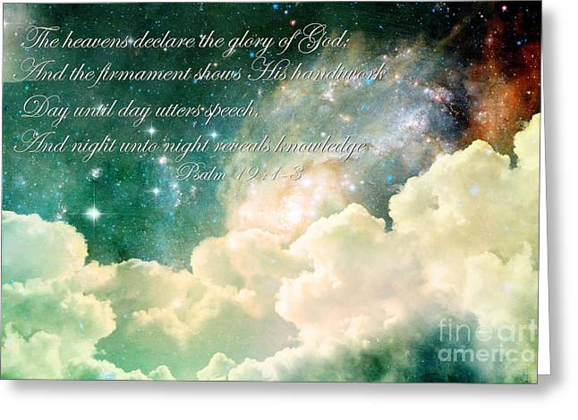 The Heavens Declare Greeting Card by Stephanie Frey