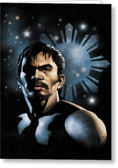 The Heavens Shine On Pacquiao Greeting Card by Elvin Dantes