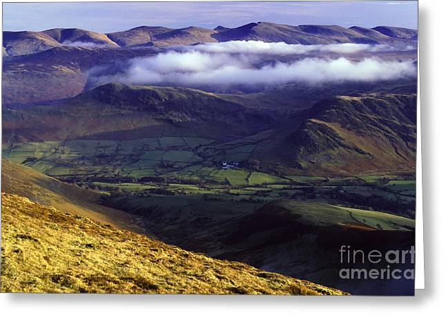 Temperature Inversion Greeting Cards - The Helvellyn Range. Greeting Card by Stan Pritchard