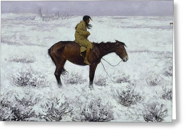 The Herd Boy Greeting Card by Frederic Remington