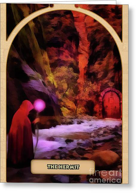 Hermit Greeting Cards - The Hermit Greeting Card by John Edwards