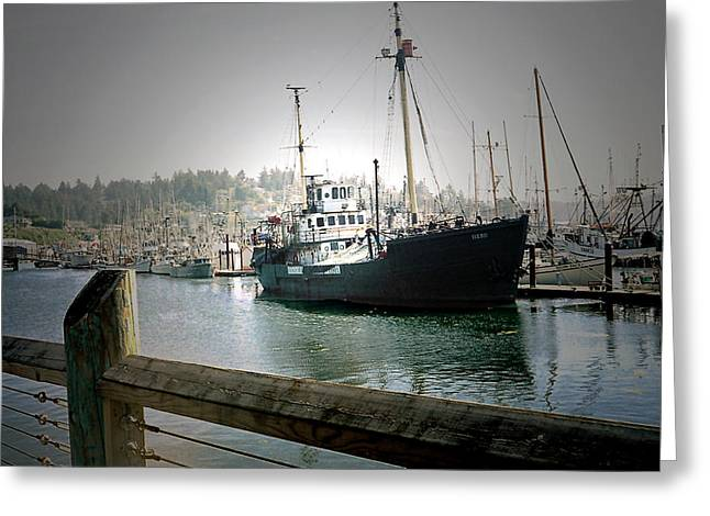 Wooden Ship Greeting Cards - The Hero Greeting Card by Lana Art