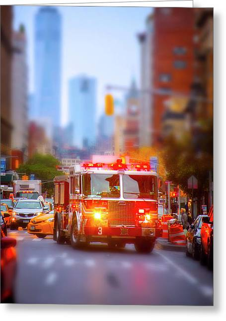 The Heroes Of New York City Greeting Card by Mark Andrew Thomas