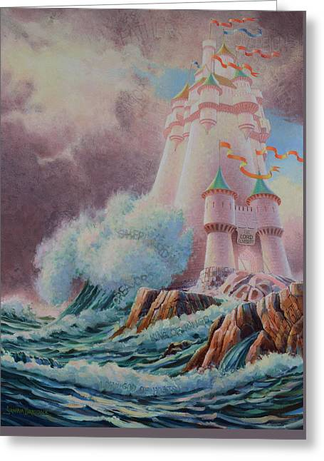 The High Tower Greeting Card by Graham Braddock