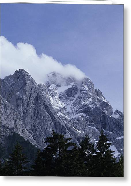 Dominate Greeting Cards - The Highest Mountain In Germany, Der Greeting Card by Taylor S. Kennedy