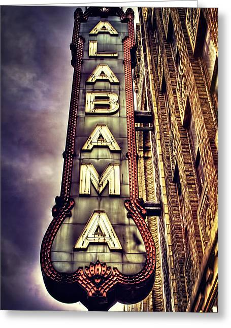 Alabama Photographs Greeting Cards - The Historic Alabama Theatre Greeting Card by Marc Parker
