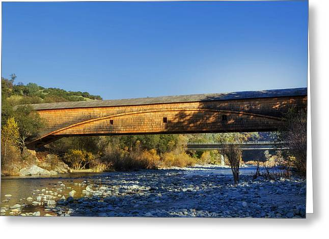 Bridgeport California Greeting Cards - The Historic Bridgeport Covered Bridge Greeting Card by Mountain Dreams