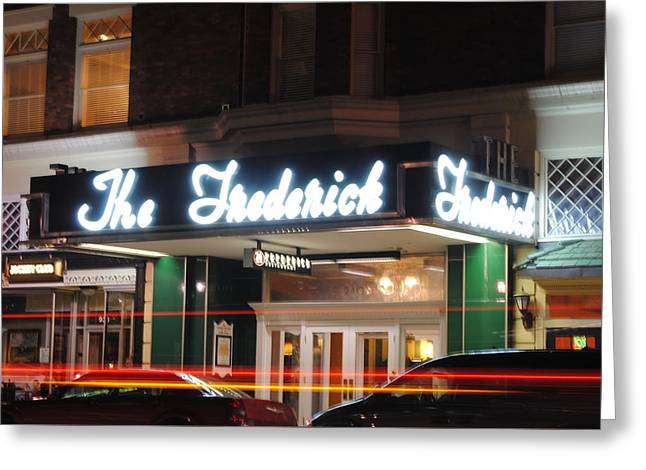Huntington Hotel Greeting Cards - The Historic Frederick Greeting Card by Tim Mahoney