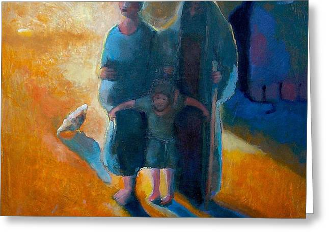 The Holy Family Greeting Card by Daniel Bonnell