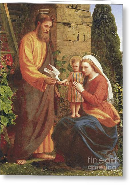 The Holy Family Greeting Card by James Collinson