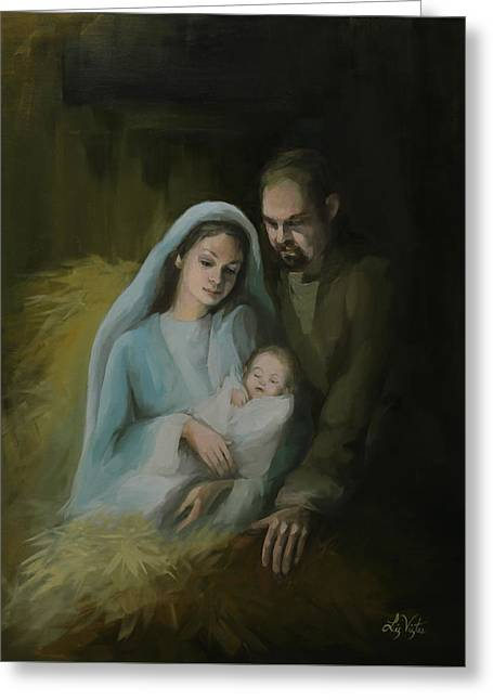 The Holy Family Greeting Card by Liz Viztes