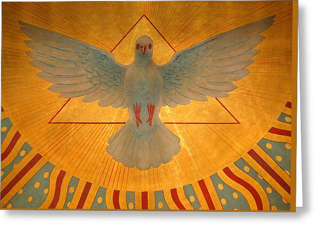 Peace Symbol Greeting Cards - The Holy Spirit Greeting Card by American School