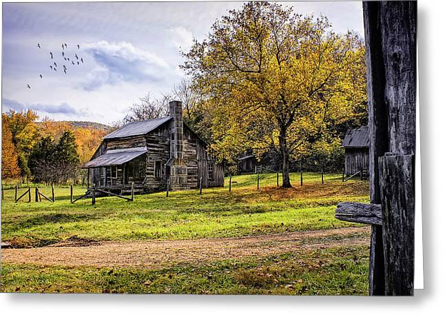 Pioneer Homes Digital Greeting Cards - The Parker-Hickman Homestead Greeting Card by Priscilla Burgers