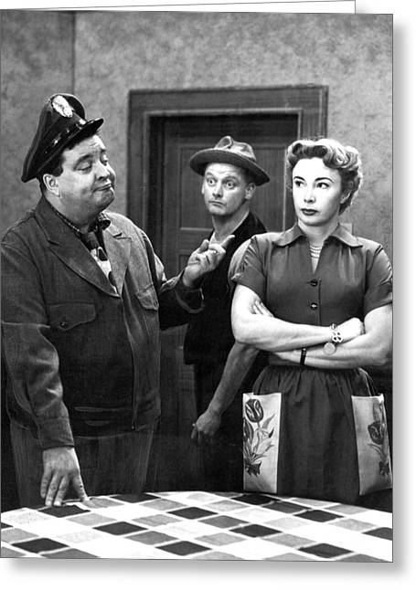 1950s Tv Greeting Cards - The Honeymooners 1950s Greeting Card by Cbs